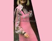 Vintage Crochet Pattern 186 PDF Granny Square Tank Dress from WonkyZebra