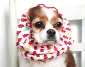 Fire Hydrant Dog Snood / 100% Donation to Cavalier Rescue USA  / Cavalier King Charles or Cocker Snood / 3 Row Elastic Thread
