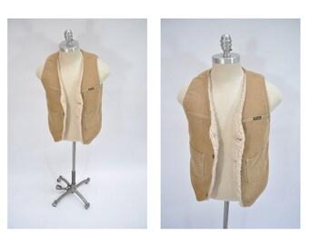 vintage wrangler corduroy vest hipster indie 1970s waistcoat jacket 70s small