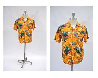 vintage hawaiian shirt hawaiian holiday shirts vintage medium silky hawaiian fashions