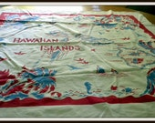 Vintage Souvenir Hawaii tablecloth