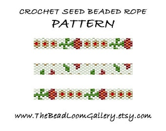 Pattern - Bead Crochet Rope with Swarovski Crystals - Vol. 39 - Roses Rope 1 - PDF File