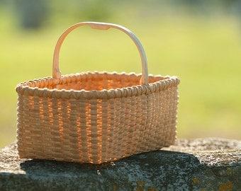 Small Shaker Carrier Basket Nina Webb Basket Handwoven Rattan