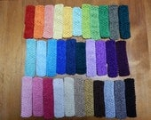 Crocheted Head Bands 32 Colors to Choose From...