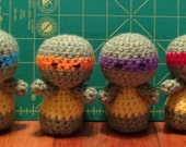 Handmade Crochet Ninja Turtles  - Set of 4