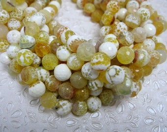 37 pcs colorful faceted agate in 10mm
