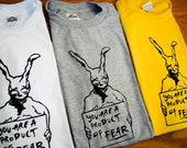 Donnie Darko Inspired Frank the Rabbit Screenprinted T-Shirt