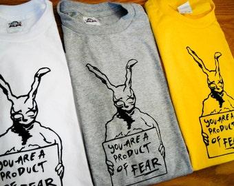 Donnie Darko Inspired Frank the Rabbit Screenprinted T-Shirt