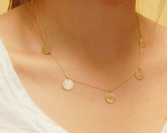 14K Gold 10mm Coin Necklace