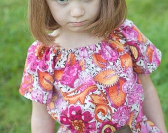 INSTANT DOWNLOAD- Marie Top & Dress (sizes 6/12 months to 8) PDF Sewing Pattern and Tutorial