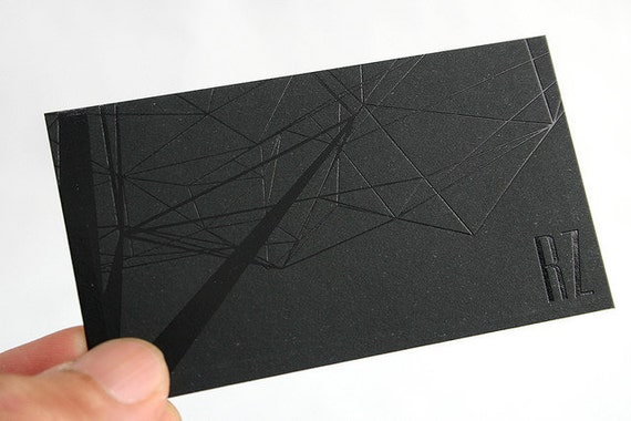 200 Business Cards -black  foil  - 14PT black matte stock -  custom printed