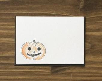 jack o'lantern pumpkin happy halloween card