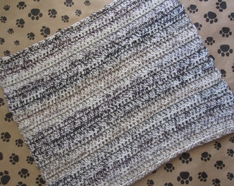 Crocheted Pet Blanket - Multicolor - Light Earth Tones