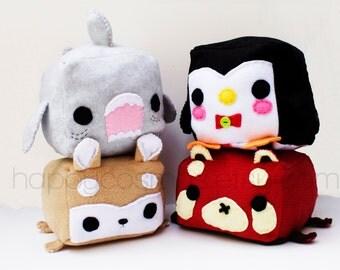 Animal Plush - Kawaii Plushie , Cute Stuffed Animal, Children Softie, Children's Toy, Red Panda, Shark, Penguin, Shiba Inu, Christmas Gift