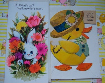 two sweet and fun easter spring cards