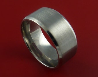Titanium Wide Wedding Band Unisex Engagement Ring Made to Any Sizing 3 to 22