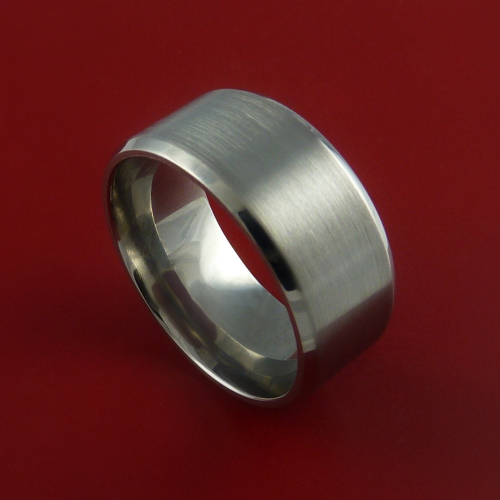 titanium wide wedding band unisex engagement ring made to any