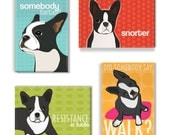 Boston Terrier Gifts Magnet Set - Boston Terrier Magnets Refrigerator Magnets with Funny Sayings
