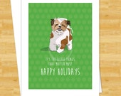 Dog Christmas Cards - Shih Tzu It's The Little Things That Matter Most - Happy Holiday Merry Christmas Cards