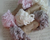 Shabby Wrinkled WHISPERS ribbon bundle, 15 yards