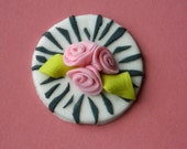 One Dozen Fodant Edible Zebra and Roses cupcake toppers