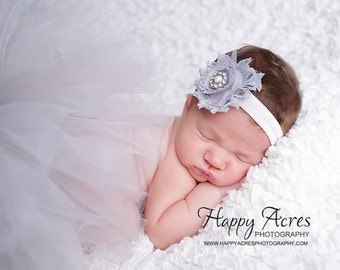 PLATINUM PRINCESS TUTU Set....baby tutu, newborn tutu, baby photography prop, headband included...newborn-24 month available