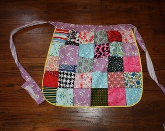Vintage Apron Handmade Patchwork Lined Like New
