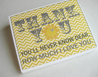 You Are My Sunshine thank you notes (20) - birthday party, baby shower, handmade