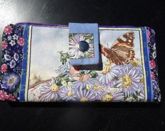 Ladies Cotton  Wallet  The Michaelmas Daisy Fairy