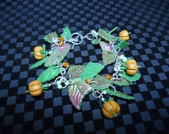 Pumpkin Patch Charm Bracelet