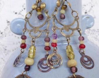 Vintage 70s Bead Earrings