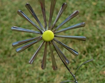 Spoon Handle Flower Garden Stake Art Sculpture