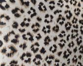 CHEETAH Print black and tan Linen, designer multipurpose fabric
