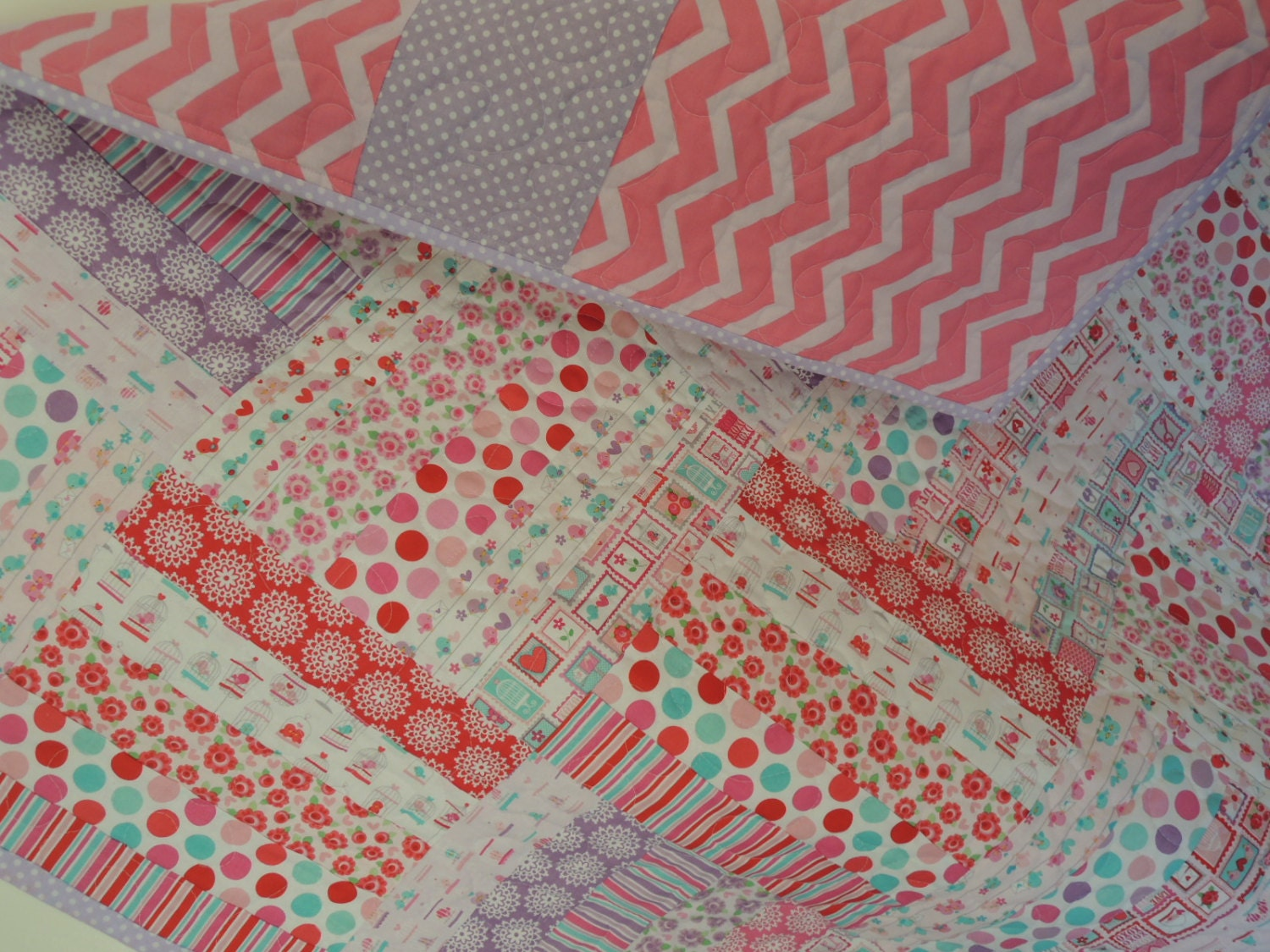 Super Simple Jelly Roll Lovey Dovey Baby Quilt Pattern