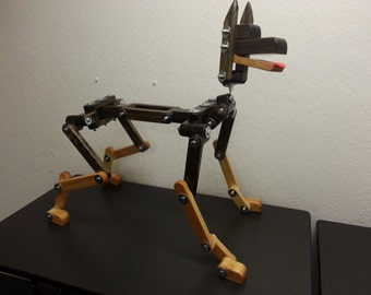 Wooden Posable Dog