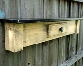 Primitive Farmhouse Style Display Shelf, Rustic Country Table Mantle, YOU CHOOSE COLOR