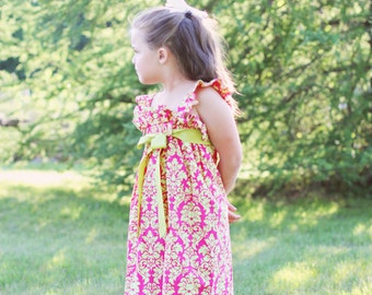 Raspberry Limeade Sundress, Size 3, 4, 5, 6, 7, 8, and 10