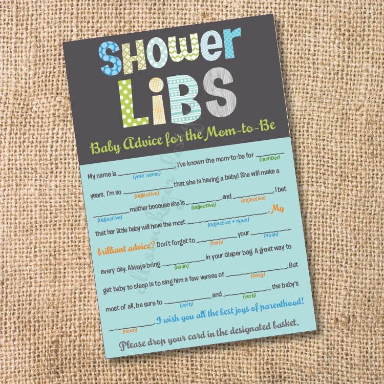 funky letters boy printable baby shower by allisonkizerdesigns