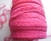 Lace Trim Doll Lingerie Slips 3/8 inch Hot  Pink 5 yds 1752
