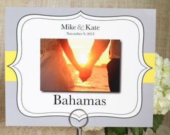 Wedding Table Name Number with Bracket Design Custom Customize Photo Pic Pictures Color Guest Table