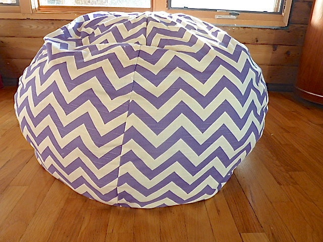 Grey Amp White Chevron Bean Bag Chair Cover By Copperbugcompany