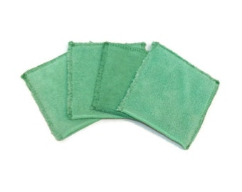 "Microfiber Hand Mitts- Set of 4- 4""x4""- GREEN- 26004"
