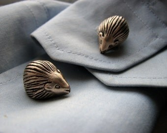 Hedgehog cuff links