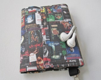 Nerd Herder gadget wallet in Horror Flick for iPhone 6, Android, iPod, Samsung Galaxy S5, guitar picks, digital camera, earbuds