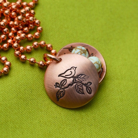 Momma Bird Nest Personalized Charms Copper Locket for Mom