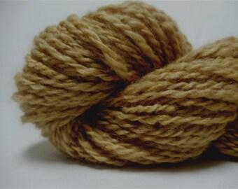 "Handspun Yarn Alpaca and Silk  Natural Dye 108 Yards Golden Knitting Crochet Doll Hair "" Harvest Gold "" (2 available)"