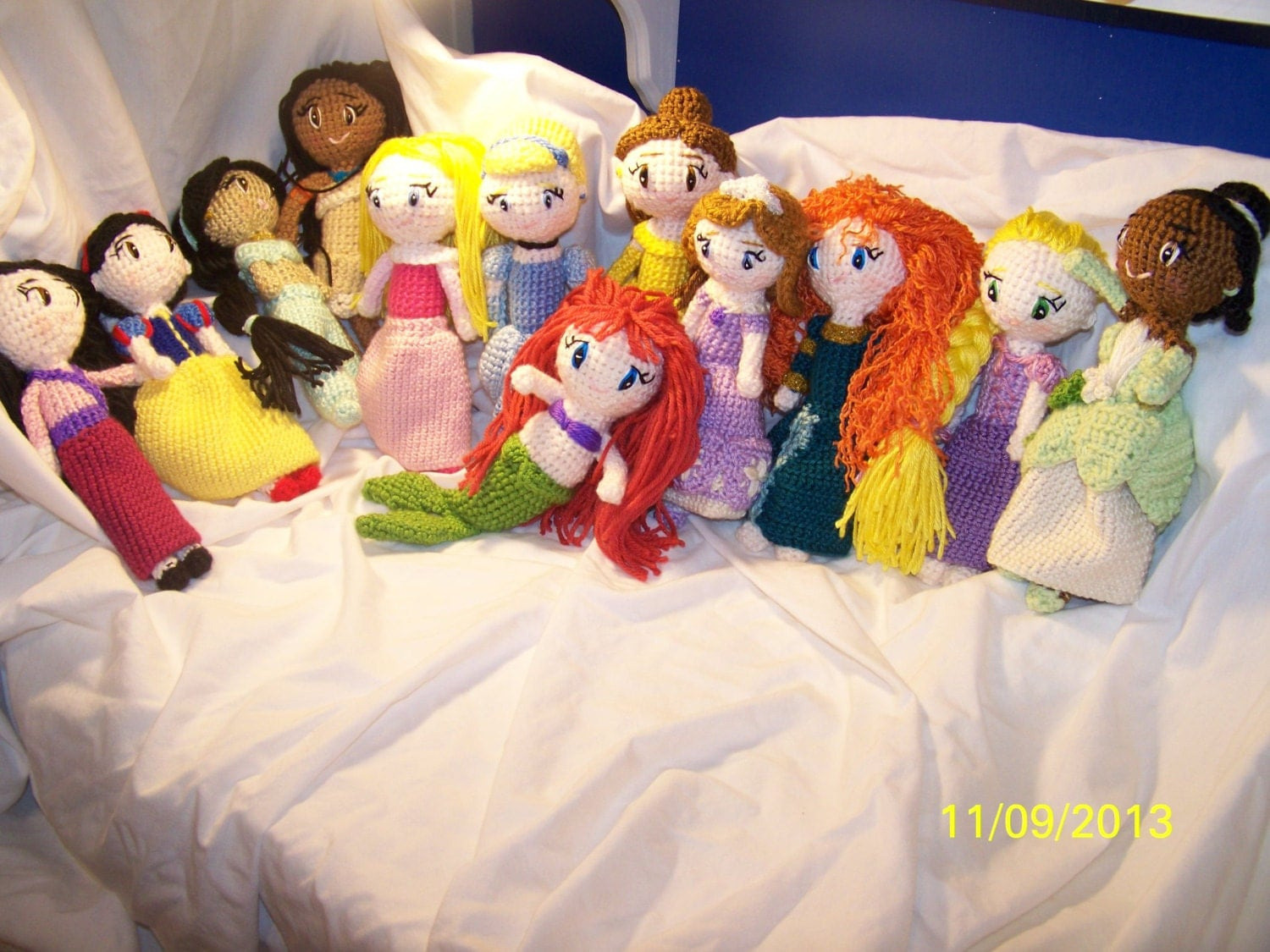 Disney Character Knitting Patterns : Disney princess dolls you pick by EEKsCreations on Etsy