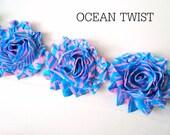 NEON Shabby Rose Trim - 2 1/2 inch - 1/2 yard - NEON Ocean Twist