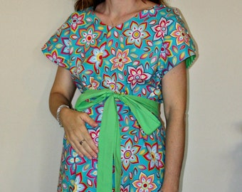 Kathryn Maternity Hospital Gown - for Labor and Delivery -Lining and or Sash in Your Choice of Colors -Mommy Moxie on Etsy