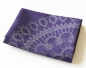 doily tea towel - purple